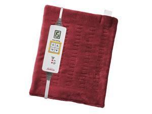 Sunbeam 002014-915-001 XpressHeat Heating Pad Garnet Red