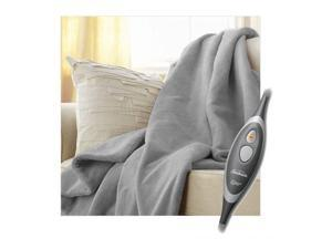 Sunbeam Microplush Electric Heated Throw Blanket Mid Grey TRM8VS-R881-37A