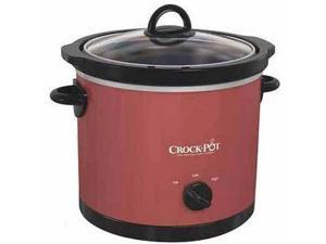 Crock Pot SCR400-R 4-Quart Manual Round Slow Cooker Red