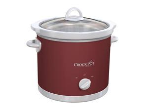 Crock Pot SCR300-RS 3 Quart Pattern Round Slow Cooker Red