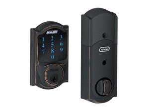 Schlage BE469NX CAM 716 Camelot Aged Bronze Touchscreen Deadbolt with Alarm