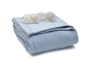 Biddeford 1003-903292-535 Comfort Knit Fleece Electric Heated Blanket Queen Blue