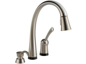 Delta Pilar  Single Handle Pull-Down Kitchen Faucet w Touch2O Technology , 980T