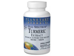 Planetary Herbals, Full Spectrum Turmeric Extract 450 mg 30 Tablets