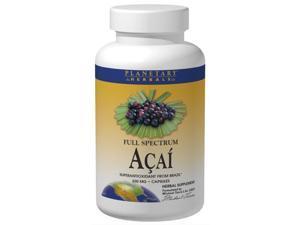 Planetary Herbals, Full Spectrum Acai 500 mg 60 Capsules