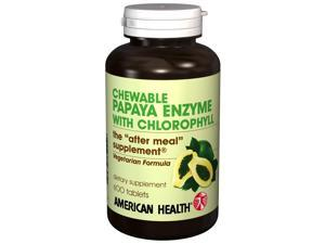 Papaya Enzyme With Chlorophyll - American Health Products - 600 - Chewable