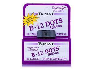 Twinlab, B-12 Dots 500 mcg 100 Tablets