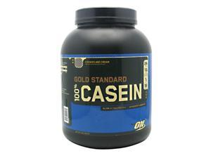 Gold Standard 100% Casein, Cookies and Cream, 4 lbs, From Optimum Nutrition