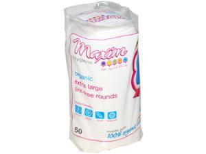 Maxim Hygiene Organic Cotton Rounds Extra Large 50 ct