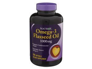 Natrol Omega-3 Flax Seed Oil 1000 mg 200 Softgels