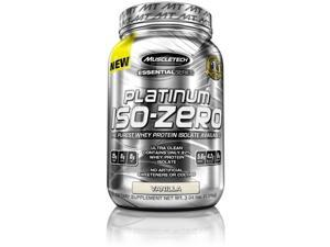 Muscletech Essential Series Us MT Platinum 100% ISO Zero Supplement, Vanilla, 3.36 Pound
