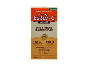 American Health Ester-C with D3 Bone and Immune Health Complex 60 Tablets