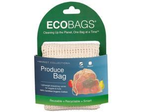 ECOBAGS Market Collection Organic Net Drawstring Bag Large 10 Bags, (Pack of 10)