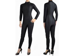 Black Mock Neck Unitard