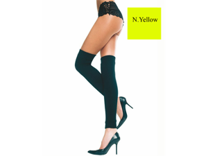 Neon Yellow Thigh High Leg Warmer