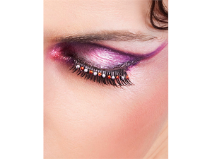 Black Red Rhinestone Eyelashes Baci Starlight Edition