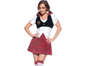 Red Plaid Reform School Girl Costume