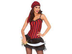 Striped Red & Black Corset Shirt