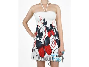 Halter Style Red Butterfly Dress