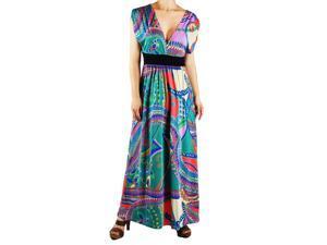 Turquoise Kimono Maxi Dress