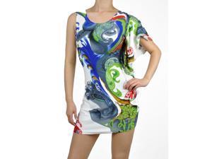 One Shoulder Tropical Dress