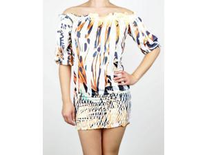 Orange Ruched Spring Dress