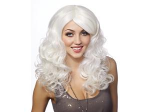 Platinum White Curly Anime Womens Wig