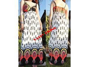 White Rope Strap Summer Maxi  Dress