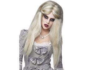 Long Witch Zombie Blonde W/Grey Wig