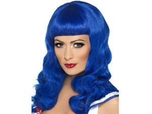 Katy Perry Long Blue Wig
