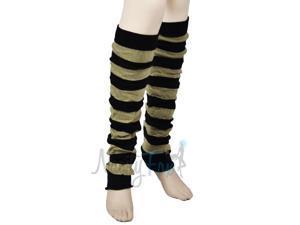 Black & Tan Long Ballet Leg Warmers