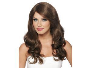 Long Curly Brown Adult Wig