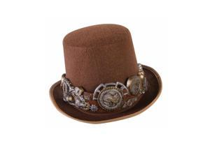 Steampunk Hat With Plastic Gear Band