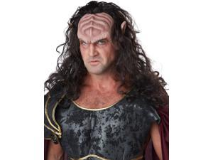Deep Space Warlord Adult Costume Half Mask With Hair