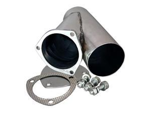 "QTP 10400 4"" Stainless Steel Exhaust Cutout With Cap"