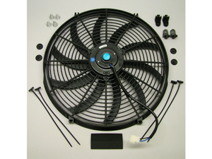 "Speed 2054S Electric Cooling Fan 16"" S-Blade Curved 2500 CFM Reversible"