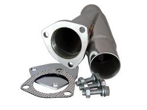 "QTP 10225 2.25"" 2-1/4"" Stainless Steel Exhaust Cutout Y-Pipe With Cap"