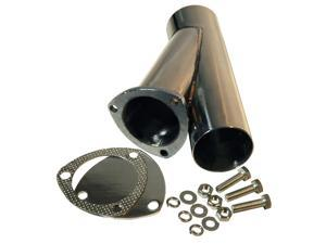 "QTP 10300 3"" Stainless Steel Exhaust Cutout Y-Pipe With Cap"