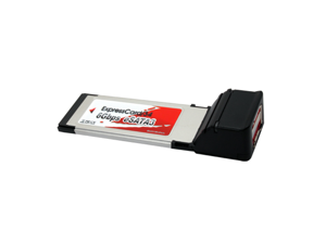 Aleratec 2 Port SATA III 6 Gbps Expresscard/34 Adapter 2 eSATA 3 ports