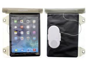 Universal Splash Water-resistant Pouch IPX4 with Speaker for iPad and up to 10.1 inch Tablet