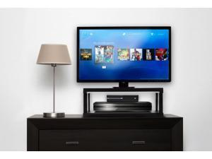 Aleratec LCD/LED TV Swivel Stand 2-Tier Entertainment Center Configurable Height