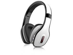 TunePhonik BTX20 Bluetooth Headphones Wireless Stereo Headset [White Black]