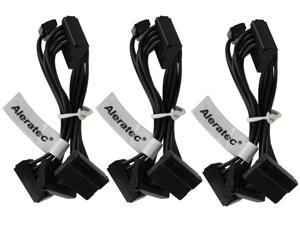 Aleratec 4X SATA Power 1:4 Splitter Cable 1.3ft 3-Pack