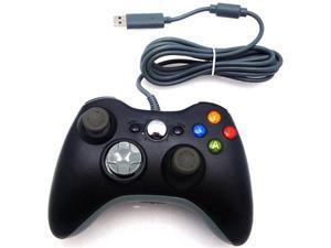 Premium Wired USB Controller For microsoft Xbox 360 & Microsoft PC - BLACK