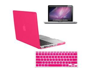 Brand New Rubberized Frosted Hard Matte Case Cover + Anti-Glare Screen Protector Guard + Protective Silicone Soft Keyboard ...