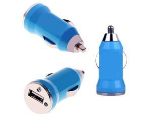 Phone Car Charger - Premium USB mini Car Chargers for iPhones iPads iPods PDAs, BLUE