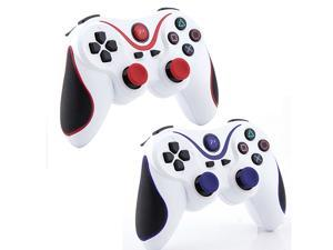 Wireless Bluetooth Game Pad Controller for Sony Playstation 3 PS3 - 2pcs Set Pack