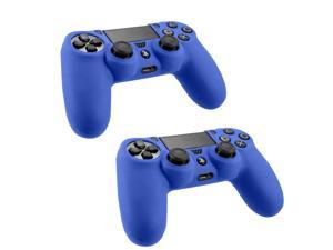 For Sony PS4 Playstation Game Controller Blue Silicone Gel Case Cover (2 Pack)