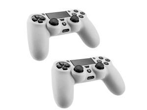For Sony PS4 Playstation Game Controller White Frost Silicone Gel Case Cover (2 Pack)