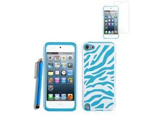 Zebra High Impact Combo Hade Rubber Case Cover For iPod Touch 5G